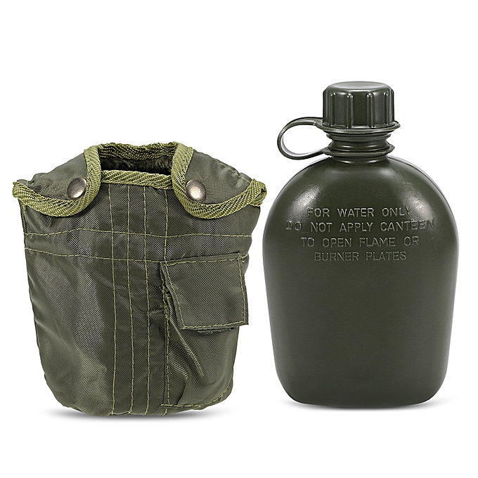 Other Outdoor  Canteen Bottle Camping Hiking Backpacking Survival Water Bottle Kettle with Cover à prix pas cher