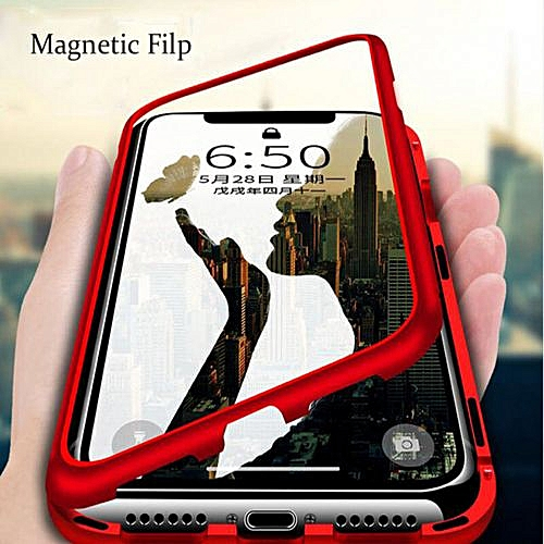 coque iphone xr transparente 360 aimante