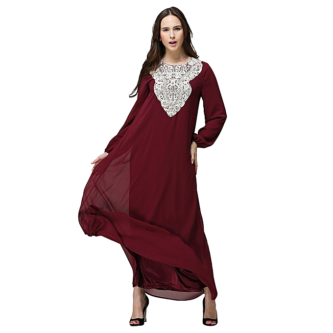 Fashion whiskyky store femmes Long Maxi Dress Dubai Double Layer Loose Gown Islam Abaya Muslim Clothing à prix pas cher