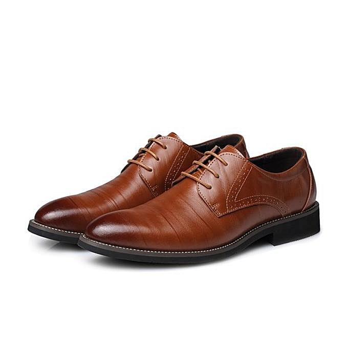 Fashion Fashion Men Mesh Dress Pointed Formal Flat Lace Up Business chaussures-EU à prix pas cher    Jumia Maroc