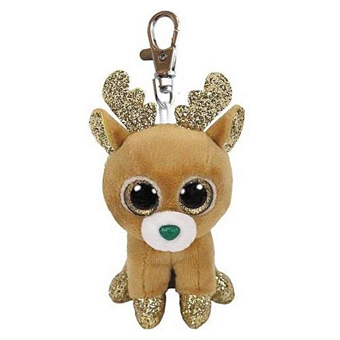 Autre TY Beanie Boo Teeny Tys Plush blanc Owl Pig Monkey Fox Husky Crocodile Dog Unicorn 9cm Big Eyes Dog Plush Toy Doll   Enfant Gift(Chocolate) à prix pas cher