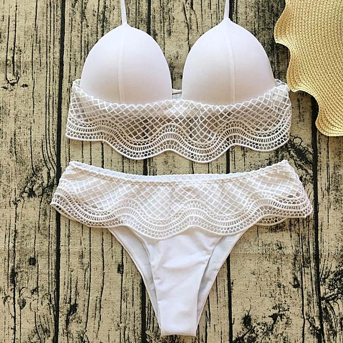Autre Plus Taille push Up Swimwear femmes Swimsuit Thong noir blanc Bikini Swimsuits Bikinis femmes Biquine 2019 Sexy Bathing Suit femmes JY-M( 1st) à prix pas cher