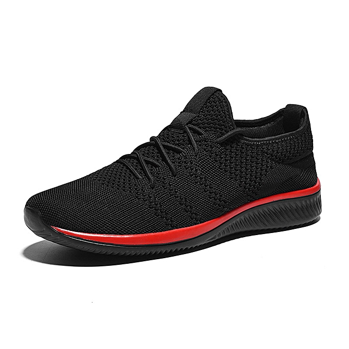Tauntte Men Casual chaussures Athletic Running chaussures Flyknit Man Travel baskets (noir&rouge) à prix pas cher    Jumia Maroc