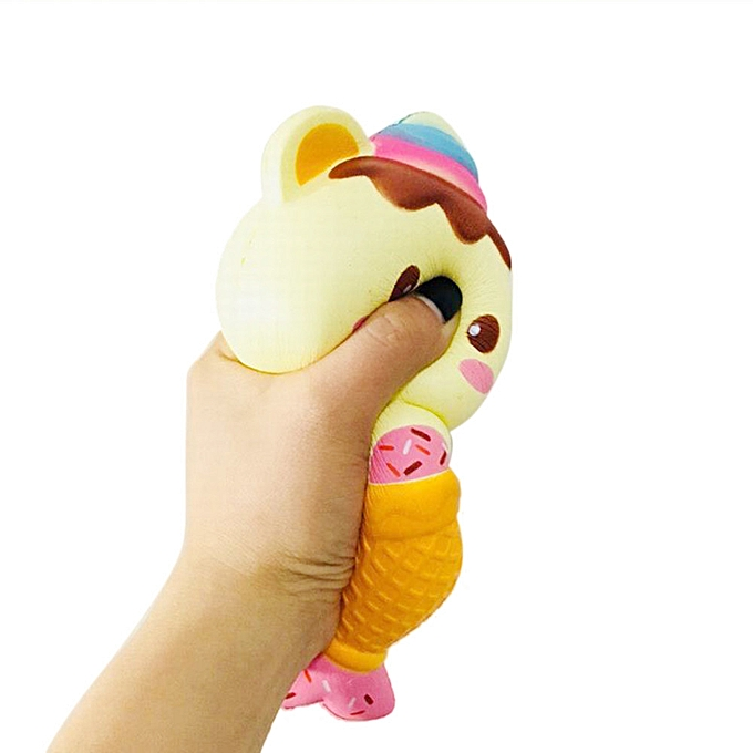 Generic Ice Cream Bear Scented Slow Rising Collection Squeeze Stress Reliever Toy à prix pas cher
