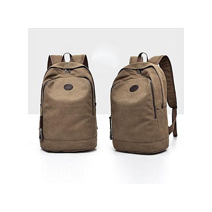 mode SingedanDécontracté Hommes toile sac à dos School voyage Student School Laptop sac -Coffee à prix pas cher
