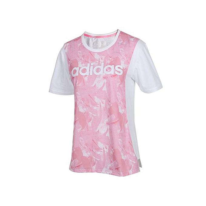 Adidas femmes& 039;s lumière bleu Sports T-Shirt DW7771 à prix pas cher