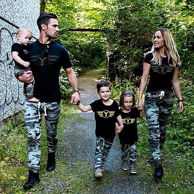 Generic Generic 2pcs femmes chemisier Camouflage T shirt hauts+Pants Family Clothes Set Outfits A1 à prix pas cher