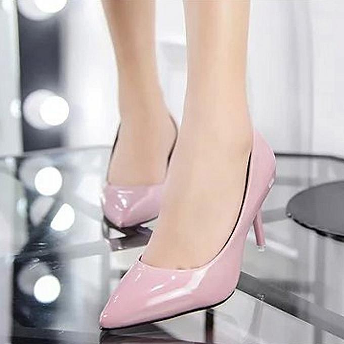 Générique Sedectres WoHommes  Nude Shallow Shallow Shallow Mouth Fashion Elegant   Office Work High Heels Shoes-Pink à prix pas cher  | Jumia Maroc 055e62