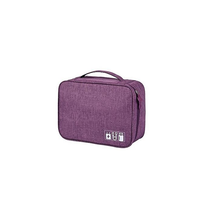 Other Dropshipping voyage imperméable Electronic Organizers sac grand capacité Digital Pack sacs voyage Accessories VIP Link(violet) à prix pas cher