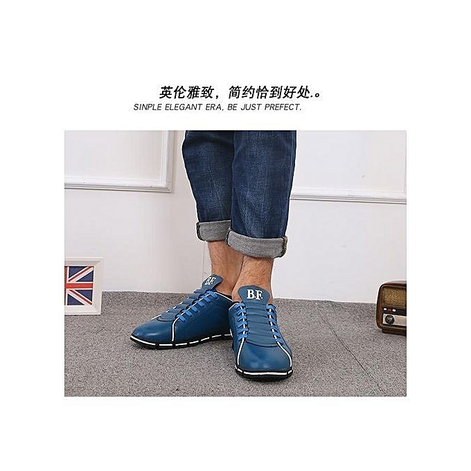 Fashion British New Arrival  's Fashion Genuine Genuine Fashion Leather Driving Shoes Comfortable Leather Shoes Best Gift For  -Bleu  à prix pas cher  | Jumia Maroc 2c3ded