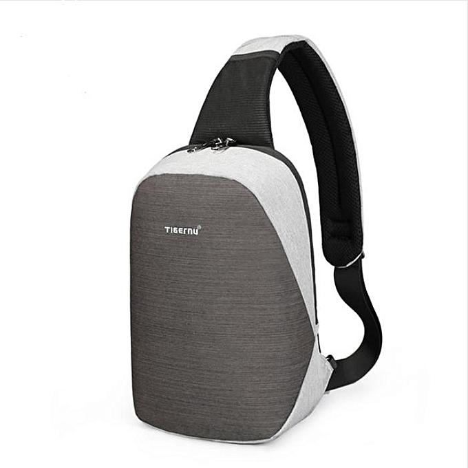 OEM Hot sale High quality Fashion Casual Travel fashion Cross Body Shoulder Bag gris à prix pas cher