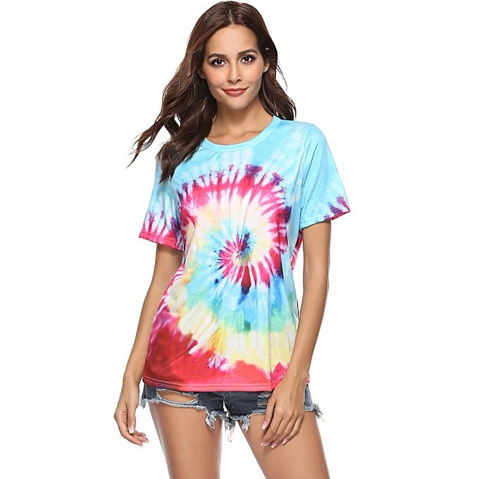 Generic Generic  femmes Summer Rainbow Top Sleeveless Blouse Casual Tank Loose Tops T-Shirt A1 à prix pas cher