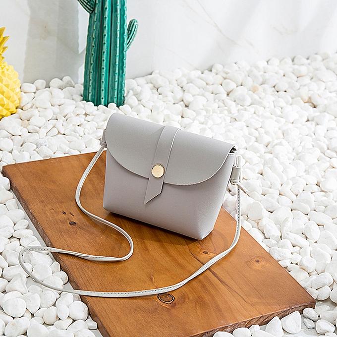 mode Singedan Shop femmes Candy Couleur One Shoulder petit sac à dos Round Buckle Square Phone sac GY à prix pas cher
