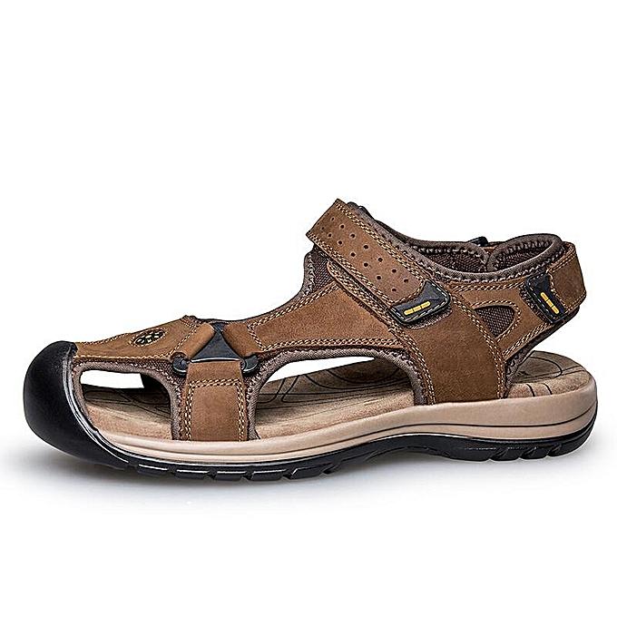 Fashion Fashion   Fashion  Anti-collision Toe Shock Absorption Outdoor Leather Hiking Sandals-EU à prix pas cher  | Jumia Maroc 5bf76e