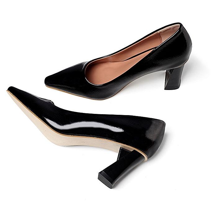 Fashion Solid Couleur pointed shallow mouth femmes lazy chaussures noir à prix pas cher    Jumia Maroc