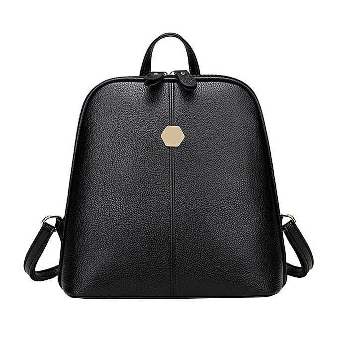 mode Tcetoctre College wind shoulder sac soft cuir mode wild rivets ladies sac à dos BK-noir à prix pas cher