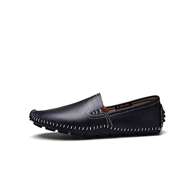 Fashion  's 's  Leather Loafer With Stripe At Side-Blue à prix pas cher  | Jumia Maroc c0d3ed