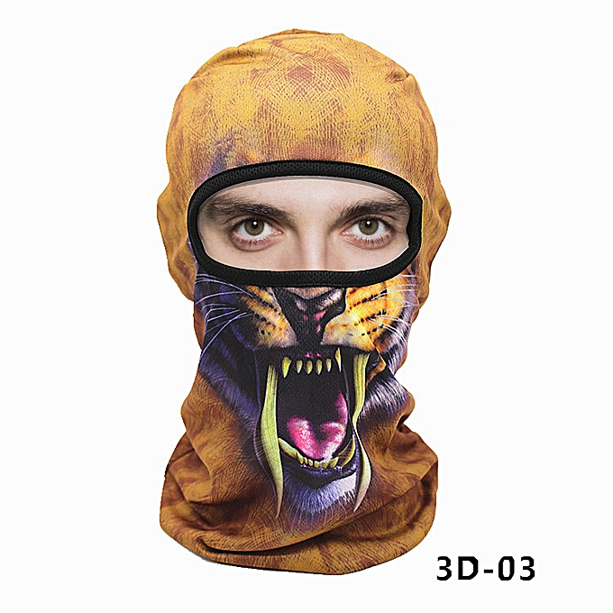 Autre WOSAWE Motorcycle Balaclava Face Mask Men's Outdoor Sports Windproof head Mask animal pattern motocross face mask motorcycle( 3D03) à prix pas cher