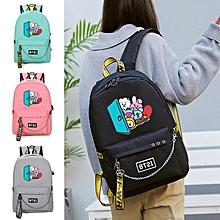 7ff111adcd BTS BT21 43x13x30cm USB Oxford Bag Backpack(Color:Black)
