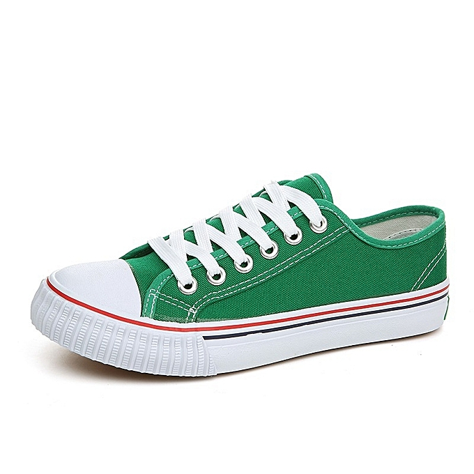 OEM New couple canvas classic hommes chaussures Korean version of Couleur student chaussures hommes cloth chaussures femmes chaussures-vert à prix pas cher    Jumia Maroc