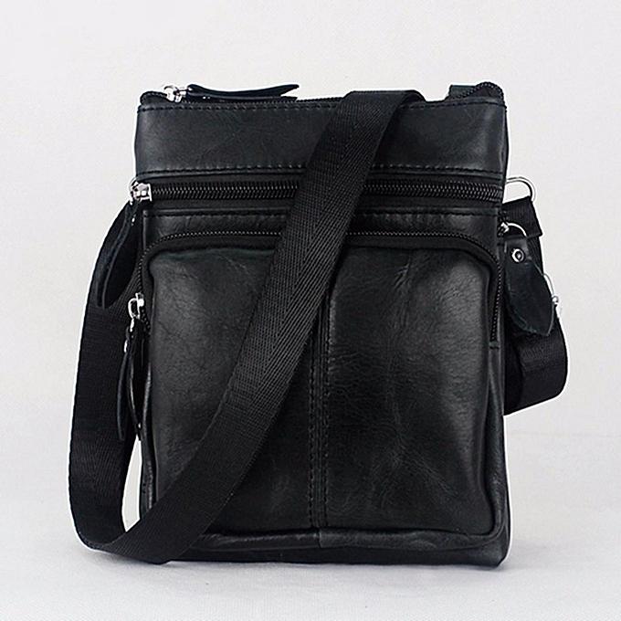 mode Vintage Hommes Décontracté Affaires cuir Shoulder sac Messenger bandoulière Handsac US noir à prix pas cher