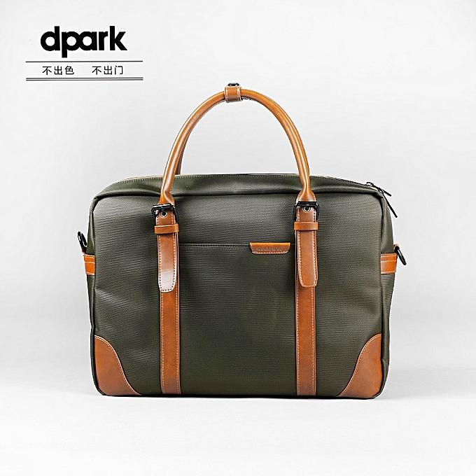 Other New Group Messenger Bags Waterproof Portable Laptop Briefcase Bag Men's Travel Shoulder Vintage 15.6 Inch Handbag For Macbook(vert) à prix pas cher