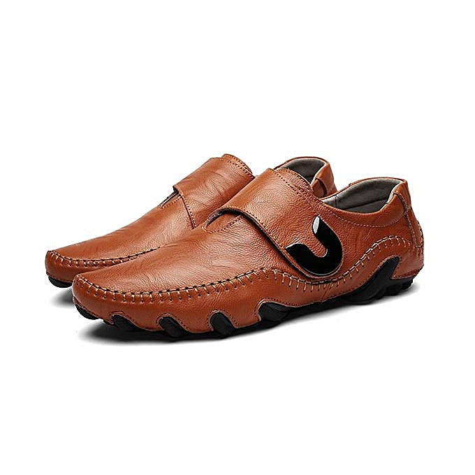 Fashion Fashion   Cow Leather Hook Loop Soft Sole prix Casual Shoes Loafers-EU à prix Sole pas cher  | Jumia Maroc 7318db