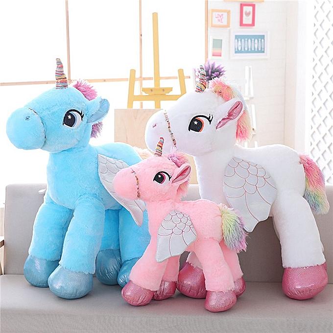 Autre 1 Pcs Cute Unicorn Plush Doll   Dolls rose Unicorn Soft Stuffed Animal  Enfants Toys Birthday Gifts(blanc) à prix pas cher