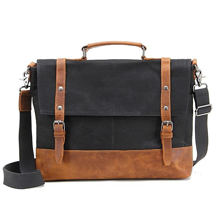 Fashion Men Multifunction Vinatge Messenger Bags handbag Fashion Canvas Shoulder Bag Male Casual Travel Crossbody Bag Business Briefcase à prix pas cher