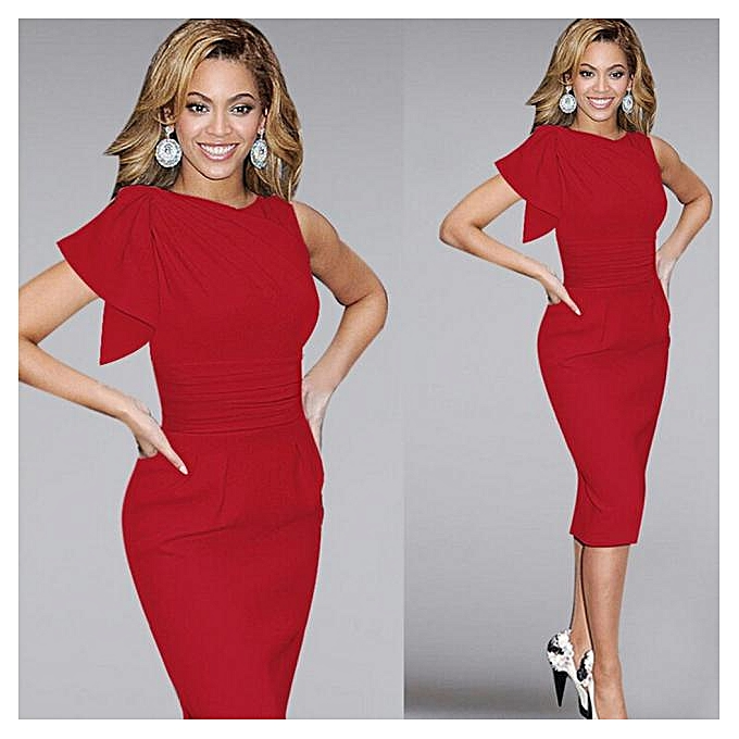 Fashion femmes Sexy Bodycon Pencil Dress Sleeveless Dresses Party Dresses RD M à prix pas cher