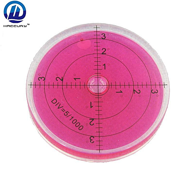Autre HACCURY 6610mm rouge Couleur High Precision level spirit level vial Bubble level circular(rouge) à prix pas cher