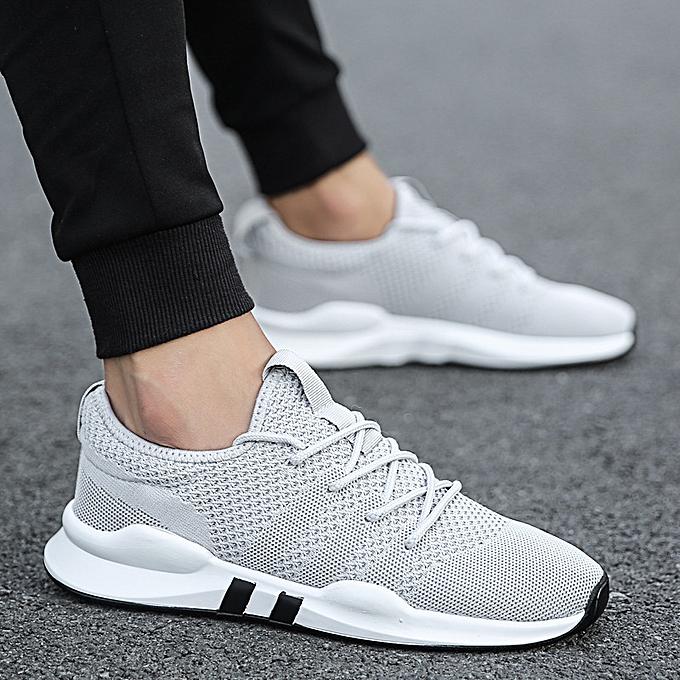 mode paniers respirant engrener chaussures Décontracté non-slip engrener hommes chaussures gris à prix pas cher