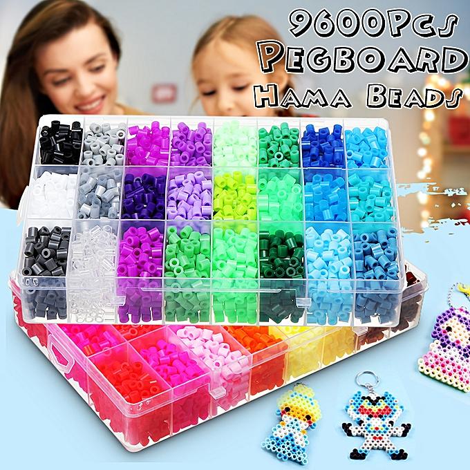 UNIVERSAL 10000Pcs Aqua Refill Fuse Water Bead Sticky Pegboard DIY Craft Art Enfants Toy Gift à prix pas cher