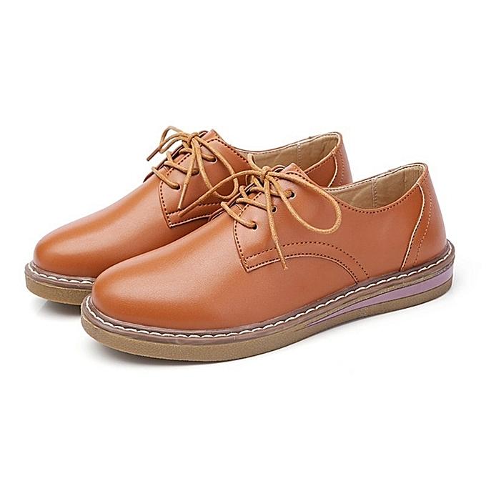 Autre Stylish British Style Flat Single Shoes Schoolgirls' Leather Leather Schoolgirls' Shoes à prix pas cher    Jumia Maroc cd4b0c