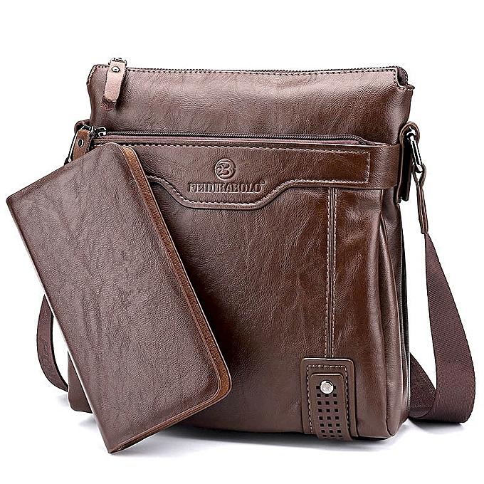 Fashion 2019 New Arrival Hot Selling business casual leather homme bag Fashion marron handbags and purses Casual men Messenger bag Wallets à prix pas cher