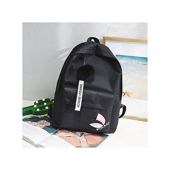 mode Tectores mode Neutral sac à dos sac Shoulder toile School Girls Boy Handsac noir à prix pas cher