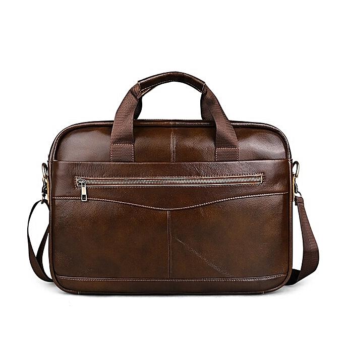 Other Oil wax  Leather Men Business Briefcase Handbags Crossbody Bags Men's Travel Laptop Shoulder Bag Messenger Tote Bags(zipper) à prix pas cher