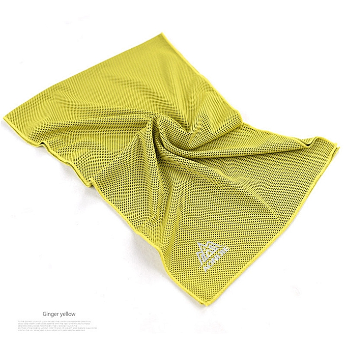 AONIJIE Rapid Cooling Sports Towel Microfiber Fabric Quick-Dry Ice Towels Fitness Yoga Climbing Exercise Outdoor Towel(jaune) à prix pas cher