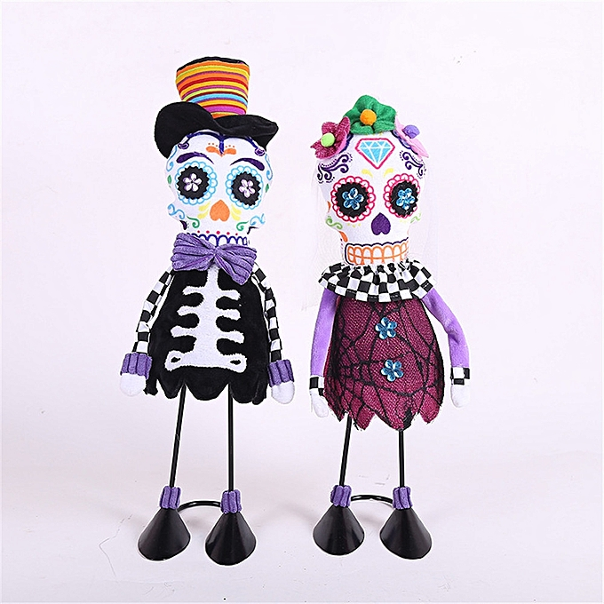 UNIVERSAL 45cm HalFaibleeen Stuffed Plush Toy Party Decoration Skeleton Doll- à prix pas cher