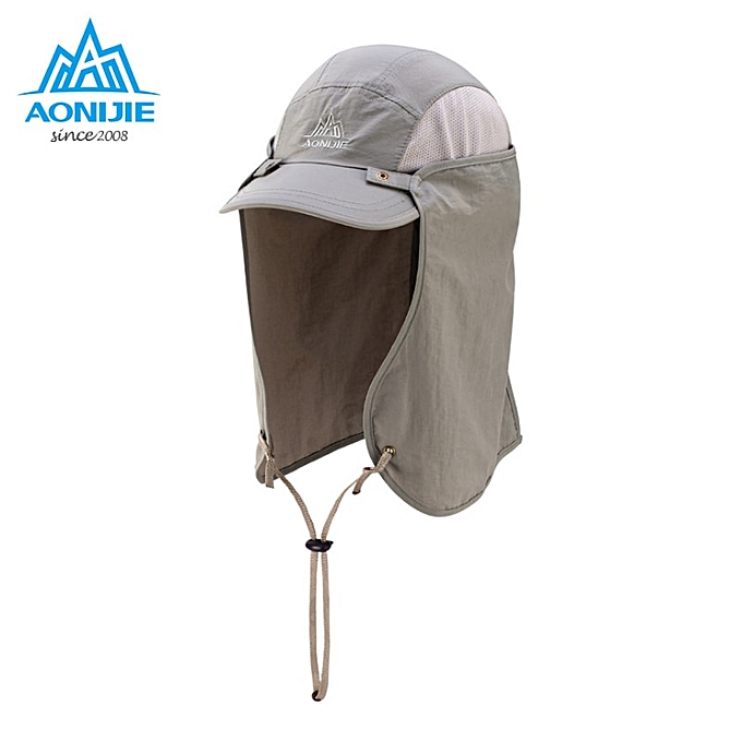 AONIJIE Sports Climbing Caps Men Cycling Running Fishing Hats femmes Sunshade Anti-UV Hat Outdoor Travel Foldable Sun Caps Hat(gris) à prix pas cher