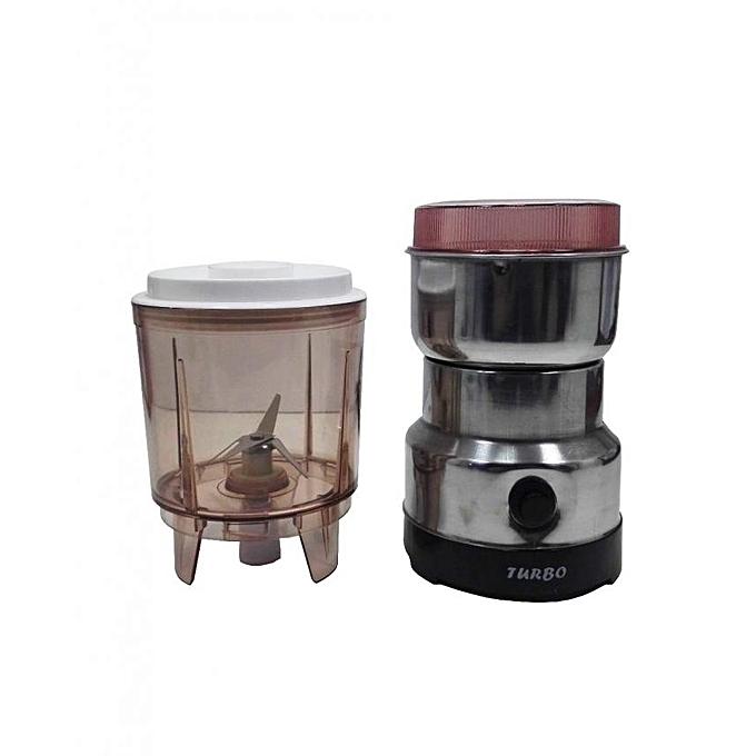 Moulin caf lectrique inox turbo achat boissons for Achat maison rabat