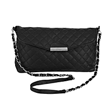 d568c0905 Women Shoulder Bag PU Leather Clutch Chain Handbag Tote Purse Messenger  Black