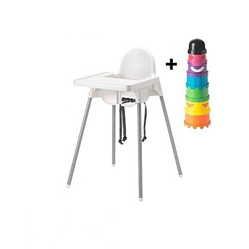 Pour Gobelets BlancJeu Ikea Chaise Pack Haute Bébé Multi De OPXkZiTu