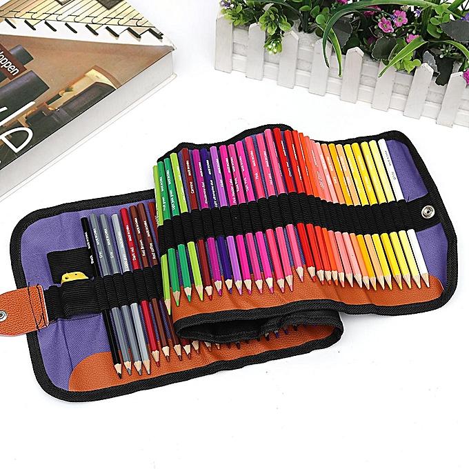 UNIVERSAL 72 Couleurs Rollable Art Non-toxic Oil Base Drawing Couleurt Pencils Canvas Bag Se à prix pas cher
