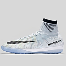 new style c54da c0b28 Nike Men Mercurialx Proximo II CR7 IC Soccer White Blue 852538-401 RHK