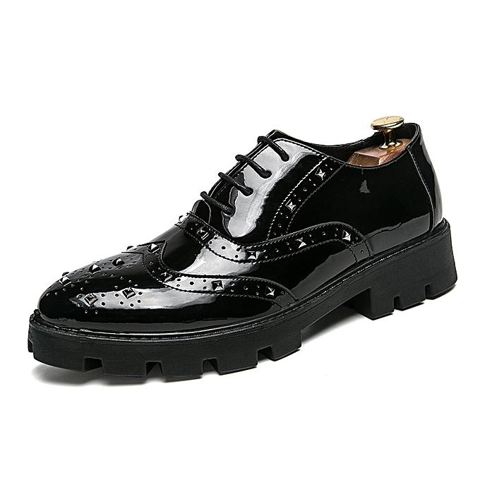 Tauntte Platform Bullock chaussures Rivet Derby Oxford chaussures Men Casual chaussures (noir) à prix pas cher    Jumia Maroc