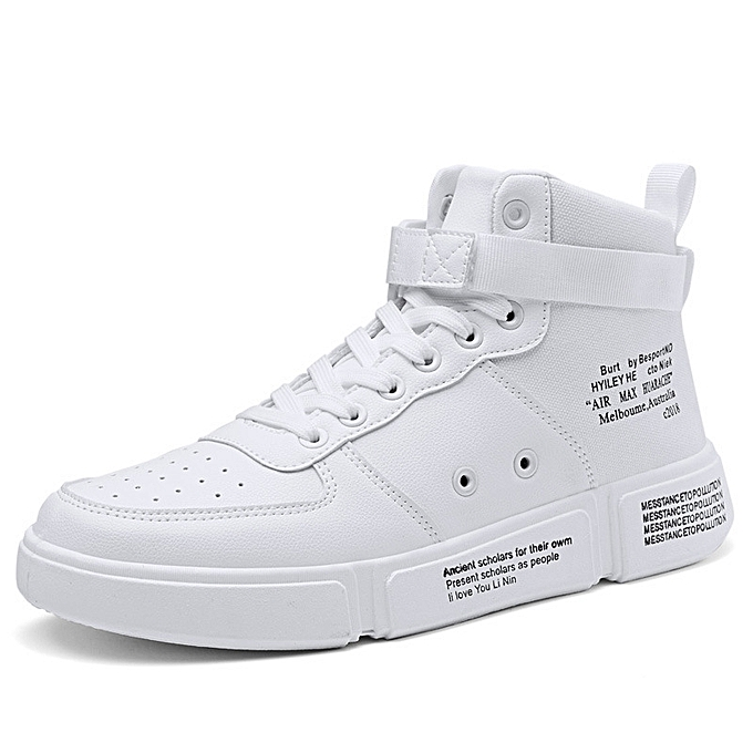 OEM Men's Korean version of high-top chaussures trend personality chaussures hommes casual sports increased chaussures-blanc à prix pas cher
