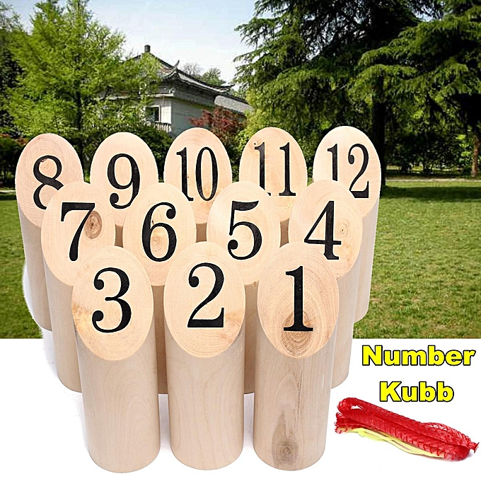 UNIVERSAL Free Shipping Number KUBB Wooden Viking Family Outdoor Garden Lawn Game Set à prix pas cher