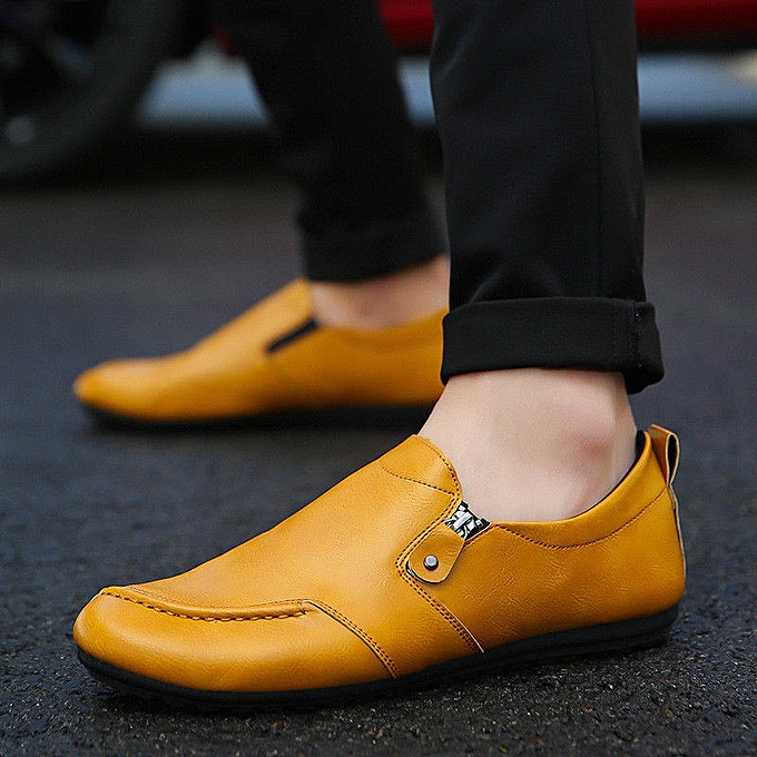 Fashion Men's Leather chaussures Driving Penny Moccasins Zip Breathable Casual Comfy Loafers à prix pas cher    Jumia Maroc