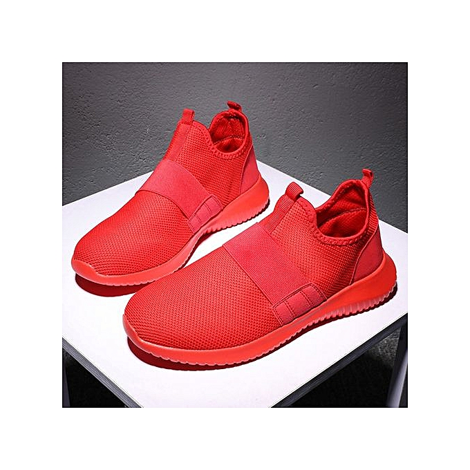 Fashion Jiahsyc Store Men's Fashion Breathable Running chaussures Casual chaussures Sports chaussures-rouge à prix pas cher    Jumia Maroc